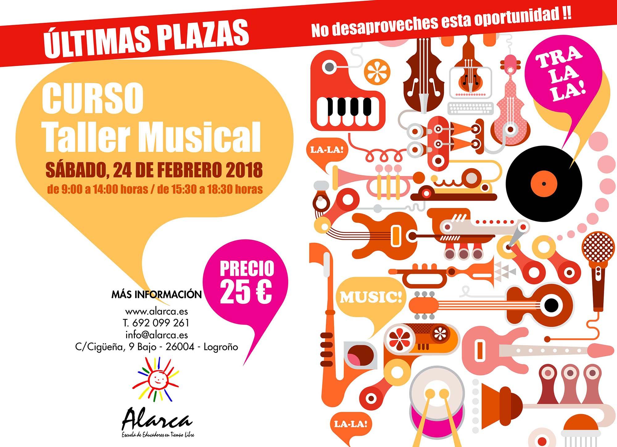 Últimas plazas taller musical Escuela Alarca